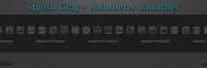 Stylish Gray Rainmeter Launcher by WwGallery