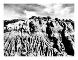 Sand Cliff BW by CaseyAdamF