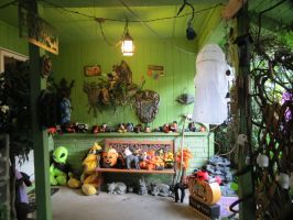 Front Porch Decorated for Halloween by Dream-finder