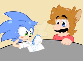 Little Mario And Sonic by raygirl12