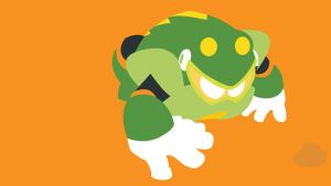 Toad Man Minimalist Wallpaper by Oldhat104