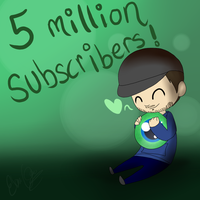 Jacksepticeye    5 MILLION SUBSCRIBERS! by FrostedKat