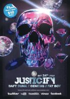 Justicify A3 Poster and A6 Flyer by lickmystyle