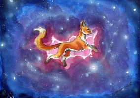 Galaxy fox by TigaLioness