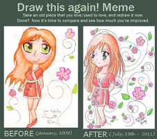 Meme: Before and after by BlackNightCat