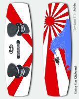 Kiteboard 1   Rising Sun by jrobbo