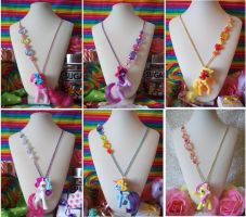 My Little Pony Friendship is Magic Necklaces by lessthan3chrissy