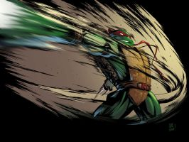Raph TMNT Coloured by jonathan-rector