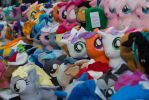 Pony Plushie Vendor Hall Booth - Ponycon 2016 by KarRedRoses