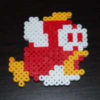 Bead Sprite - SMB Cheep-Cheep1 by SugarCubeCreations
