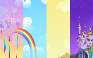 Cloudsdale Canterlot Wallpaper by BR-David