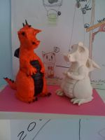 Clay Dragons by Inky-Wolf-Tracks