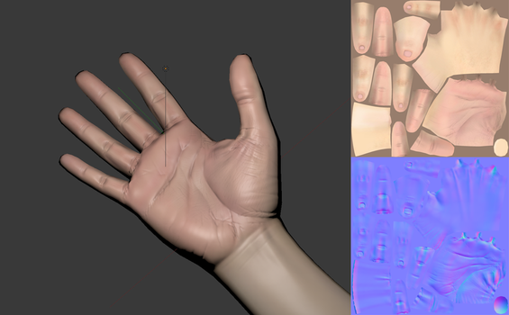 Low-poly hand model [WIP] by Dalus