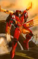 Rodimus~ Making An Entrance by DStevensArt