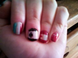 Big Brothers' Flag Nail Art by CaliforniaHunt24