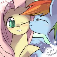 B-day present: Shy n Rainbow by keterok