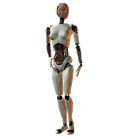 She-Bot : White 001 by Selficide-Stock