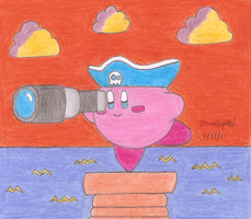 Kirby at Orange Ocean by MarioSimpson1