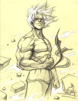 Super Saiyan Goku Sketch by raging-akujiki