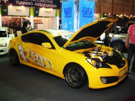 Hyundai Genesis Coupe Yellow by toyonda