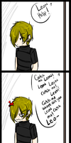 RE4: Leon is slave to noone by D-arkPotato-e