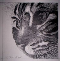 stippling kitty by DeliriousRapture