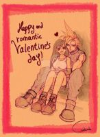 Cloud and Tifa Valentine's day by Silver-Iruka