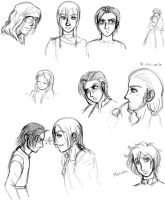 Elle and Mias Preview Sketches 2 by SuirenShinju