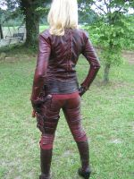 Backview of Full Cara Mord-sith Costume by ValkyrieLeather