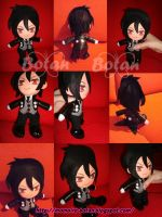 chibi Sebastian plush version by Momoiro-Botan