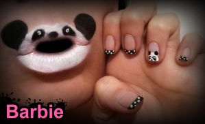 Panda Nails by BarbieNailArt