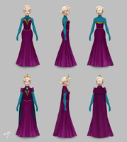 Elsa on Once Upon A Time, Coronation Gown by alyssum