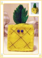 Cube Pineapple by ninjamoy