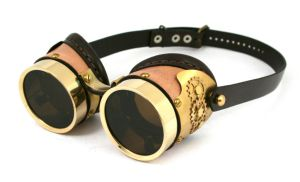 Brass goggles tan plated 2 by AmbassadorMann