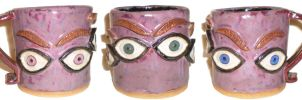 Eye Cup #27 With Eyebrows by aberrantceramics