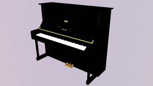 3D Yamaha U1 Upright Piano by pete7868