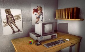 3ds Max Retro Computer by RomanianGuy