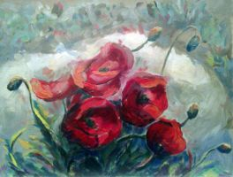 Poppies by roxanac