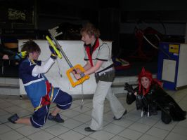 Roxas and Sora... and Axel XD by KellyJane