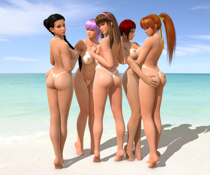 DOA5LR - Beach Paradise 5.0 - Pack 1 by Irokichigai01