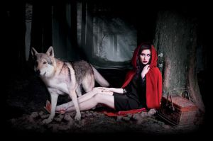 Onde Upon a One... Little Red Riding and wolf evil by hikari-studio