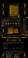 windows 7 theme orange amber glass by tono3022
