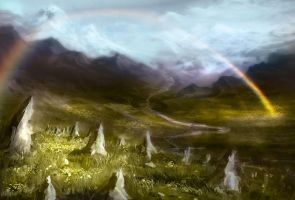 Mountain Field by hungerartist