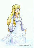 2012_09_10 Zelda white dress by RogueAngelAlan