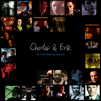 Charles and Erik Icon Pack by deMucha