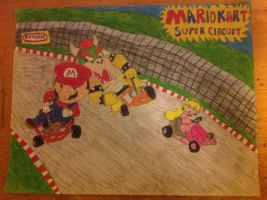 Mario vs. Bowser in Mario Kart Super Circuit by Prince5s