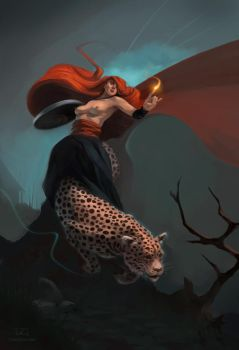 Ardea the Red Witch by tomcech
