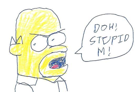 Homer Simpson - STUPID M by dth1971