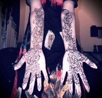 Henna done by Me. by ArtisticTalents
