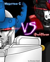 DarkHorse VS Megatron-E by BloodyChaser